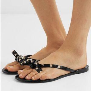 Black Rockstud Sandals